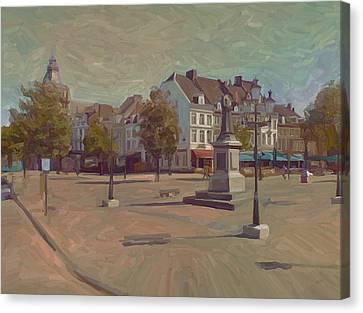 Corner Bosch Street And Market Maastricht Canvas Print by Nop Briex