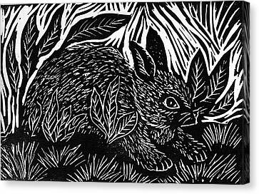 Cottontail Block Print Canvas Print