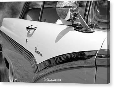 Creative Chrome - 1956 Ford Fairlane Victoria Canvas Print by Betty Northcutt