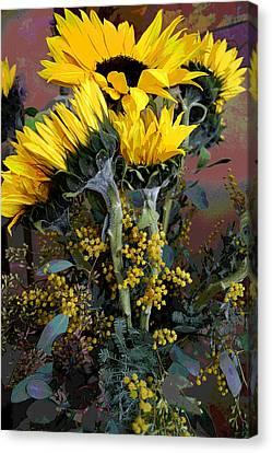 Cuddling Sunflowers Canvas Print