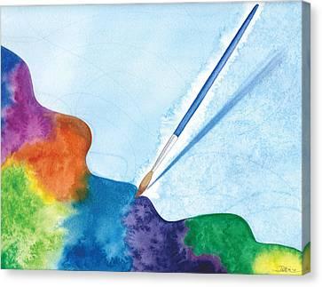 Dancing Paintbrush Canvas Print by Debi Hammond