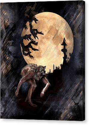 Darkenwarg Canvas Print by Mandem