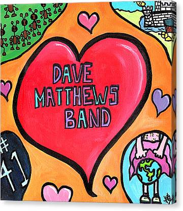 Dave Matthews Band Tribute Canvas Print by Jera Sky