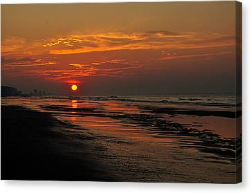 Dawn Of A New Day Canvas Print by Kathy Jennings