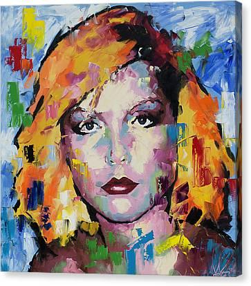 Debbie Harry Canvas Print - Debbie Harry by Richard Day