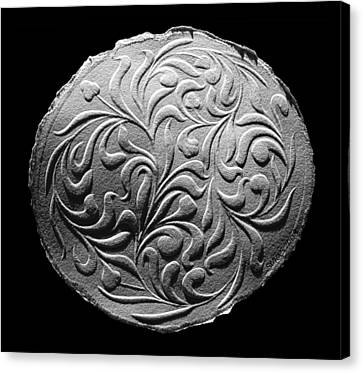 Canvas Print featuring the relief Decorative Art by Suhas Tavkar