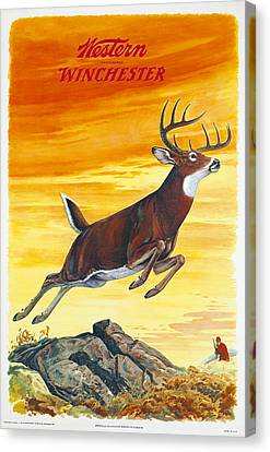 Deer Hunter Canvas Print by J G Woods
