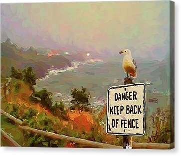 Depoe Bay Security Guard Canvas Print by Methune Hively