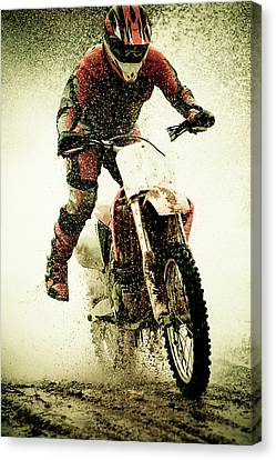 Dirt Bike Rider Canvas Print