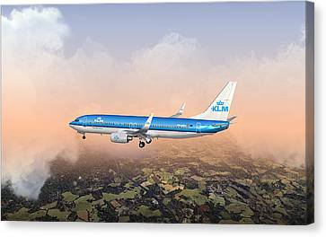 Canvas Print featuring the digital art Dirty 737ng 28.8x18 by Mike Ray