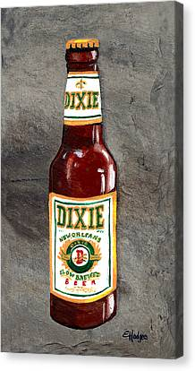 Dixie Beer Bottle Canvas Print by Elaine Hodges