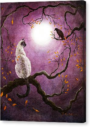 Dreaming Of A Raven Canvas Print by Laura Iverson