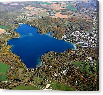E-006 Elkhart Lake Wisconsin Fall Lake Canvas Print