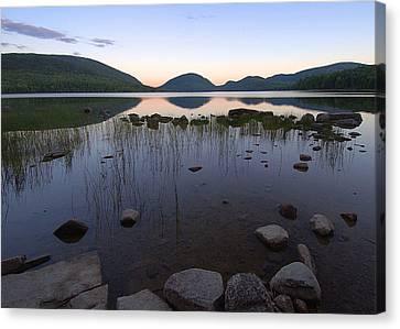 Eagle Lake Dusk Reflections Canvas Print by Stephen  Vecchiotti