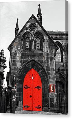Edinburgh Door Canvas Print