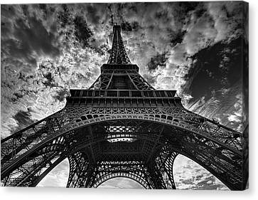 No People Canvas Print - Eiffel Tower by Allen Parseghian