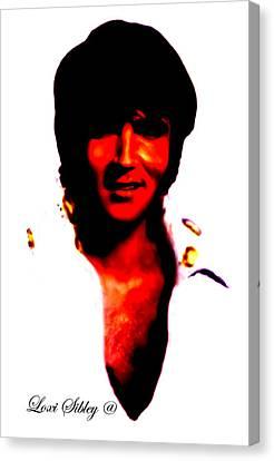 Elvis By Loxi Sibley Canvas Print