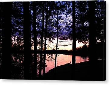 Evening On Chad Lake Canvas Print by Larry Ricker