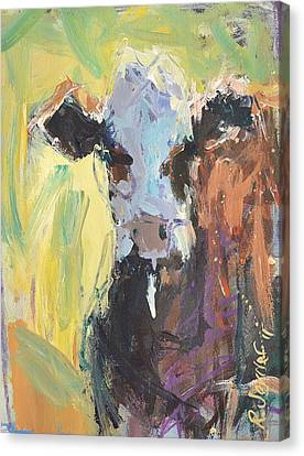 Expressive Cow Artwork Canvas Print by Robert Joyner