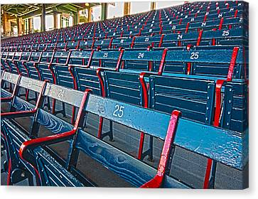 Fenway Bleachers Canvas Print by Michael Yeager