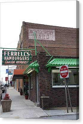 Hamburger Canvas Print - Ferrells Of Hopkinsville - 2 by David Bearden