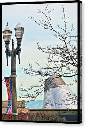 Canvas Print featuring the photograph Finial Faux Pas by Chris Anderson