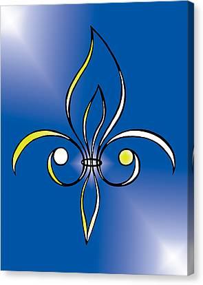 Fleur De Lis In Gold Canvas Print