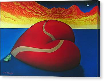 Floating On Love Canvas Print by Chris Mackie