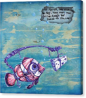Follow Your Cheesy Instincts Canvas Print by Tai Taeoalii