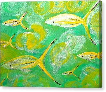 Following Friends Canvas Print by Jennifer  Lane