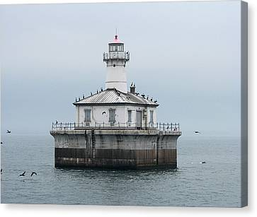 Fourteen Foot Shoal Light  Canvas Print by Keith Stokes
