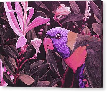 G'day Mate - Rose Canvas Print by Julie Turner