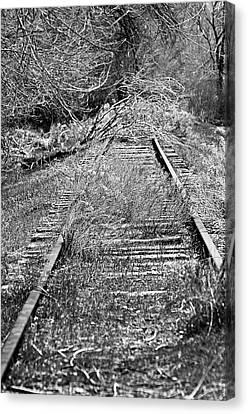 Canvas Print featuring the photograph Ghost Rail by Juls Adams