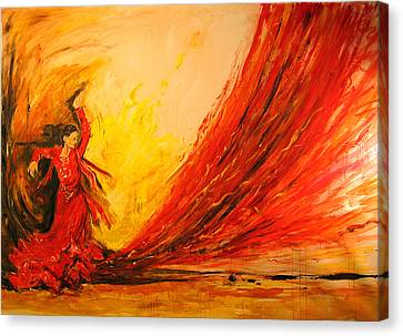 Gift Of Fire Canvas Print by Debora Cardaci