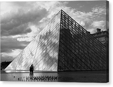 Glass Pyramid. Louvre. Paris.  Canvas Print by Bernard Jaubert