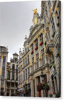Golden Grand Place Canvas Print by Carol Groenen