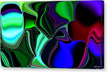 Green Nite Distortions 4 Canvas Print