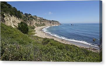 Greyhound Rock Beach Panorama - Santa Cruz - California Canvas Print by Brendan Reals