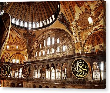 Hagia Sophia Gallery Canvas Print by Guillaume Rodrigue