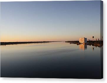 Halifax River Sunset Canvas Print by Mandy Shupp