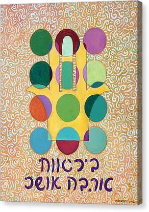 Hamsa Blessing Canvas Print by John Keaton