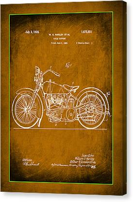 Harley Motorcycle Support Patent 1m Canvas Print