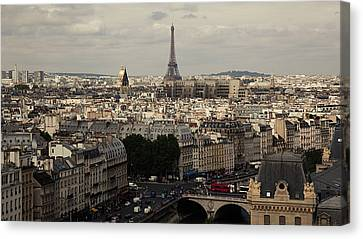 Heart Of City, Paris Canvas Print by Photo by rachel kara