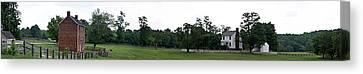 Historic Appomattox Panorama  Canvas Print by Teresa Mucha