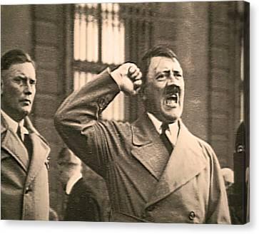 Hitler The Orator Canvas Print