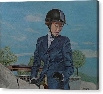 Horseshow Day Canvas Print by Patricia Barmatz