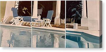 Ibiza Pool Canvas Print by Geoff Greene