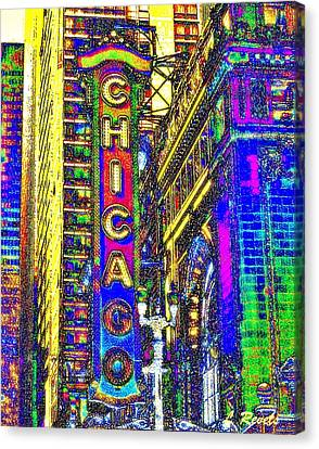 Iconic Chicago Canvas Print by Leslie Revels Andrews