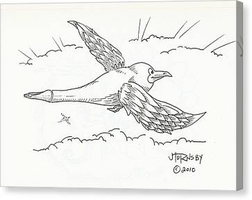 Inkgull Canvas Print by John Hornsby