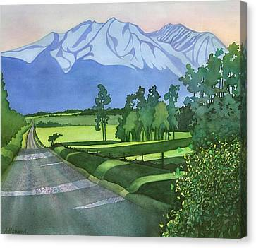 Into The Valley Canvas Print by Anne Havard